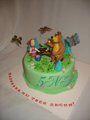 Фото-торт машенька и медведь краснодар