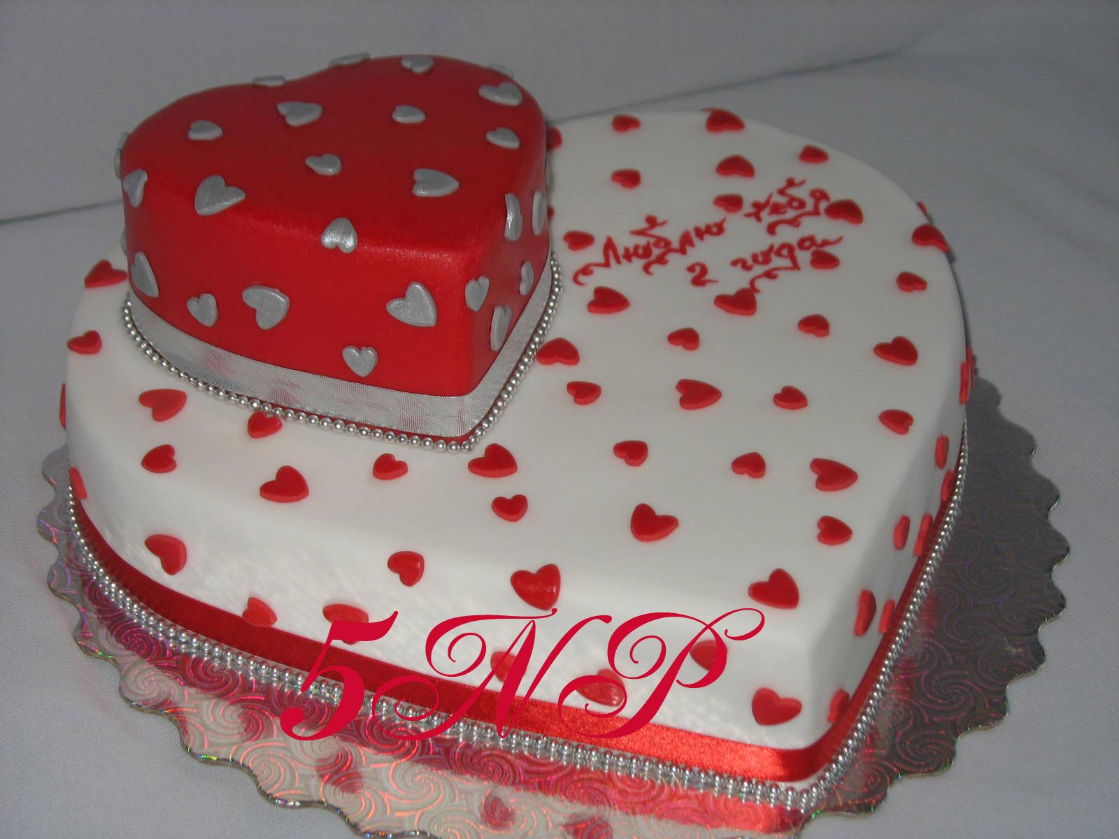 Торт в виде сердца своими руками видео